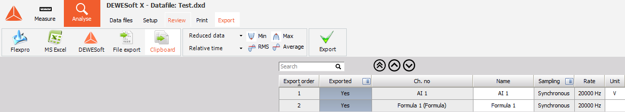 L'exportation_data_Clipboard