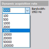 Dynamic acquisition rate